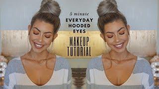 SUPER EASY, SUPER FAST Everyday Hooded Eyes Makeup Tutorial | Tartelette Toasted Palette