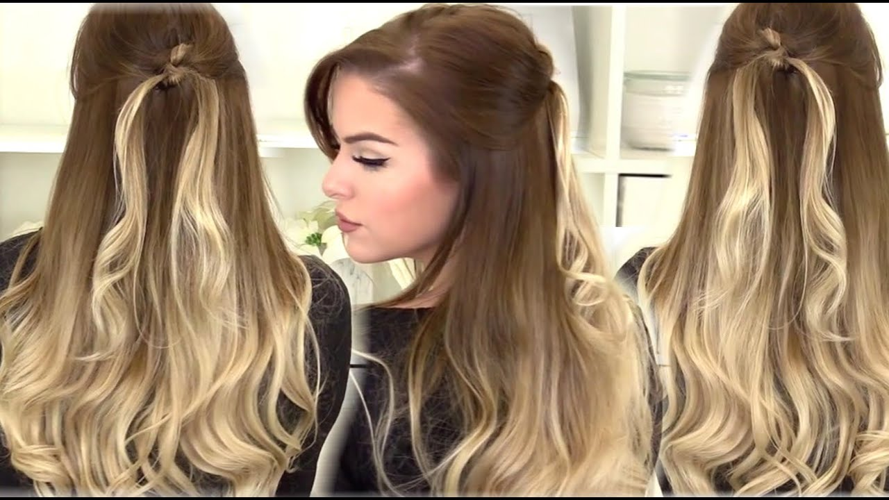 How To Easy Half Up Twisted Knot Hairstyle Youtube