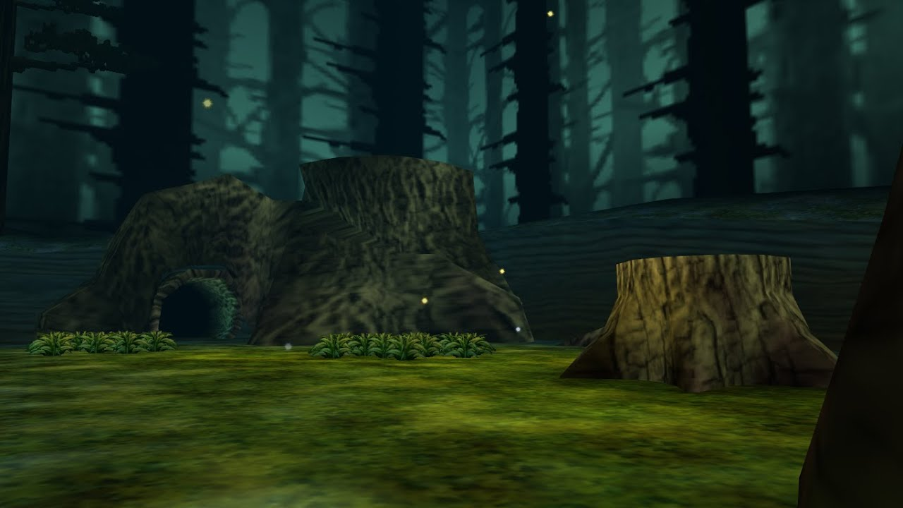Majora S Mask How Far Does Link Fall Down The Tree Trunk