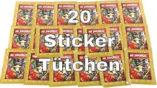 5 Booster Packungen Sticker serie Ninjago Legacy Sammelbilder Edition 2020 Starter Album