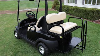 Installing A Steeleng Rear Seat  Kit On My Wifes Club Car Precedent Cart