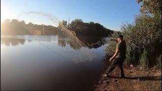 Осенняя рыбалка кастинговой сетью на СТАРОМ РУСЛЕ большой реки