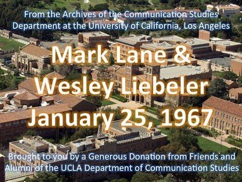 Mark Lane & Wesley Liebeler debating at UCLA 1/25/1967
