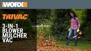 TRIVAC | 3-in-1 Blower/Mulcher/Vac