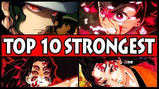 Top 10 STRONGEST Demon Slayer Characters! (Kimetsu no Yaiba 10 Overpowered Fighters)
