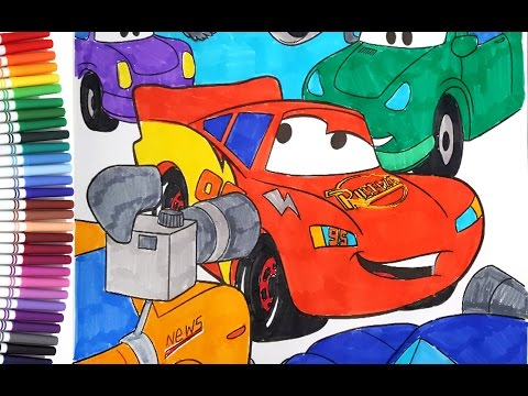 DISNEY CARS 3 Lightning McQueen Interview - Kids Coloring Book – Coloring Pages for Children