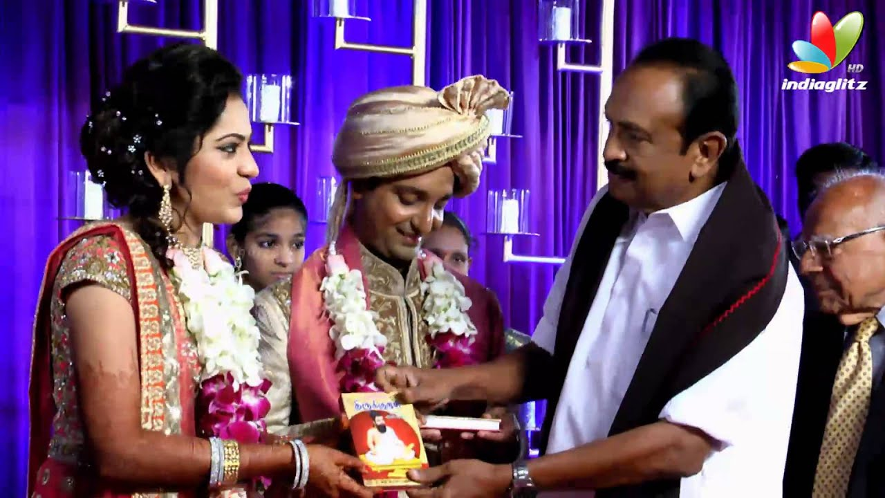 Governer Rosaiah Vaiko Sathyaraj At Vijay Tv Anchor Ramya And Aparajith Marriage Reception