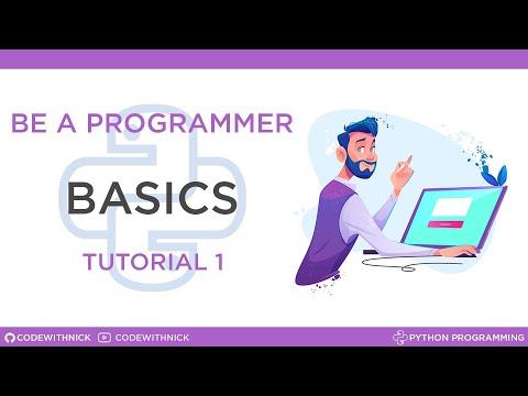Python Programming - Tutorial 1 -- Variables ,type() [Greek Tutorials] thumbnail