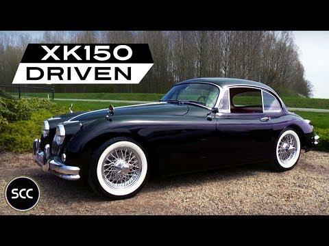 JAGUAR XK 150 S 3.4 FHC Overdrive LHD 1959 - Modest test drive - Engine sound | SCC TV