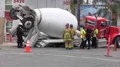 San Diego: SDSU Accident with a Cement Truck 07102018