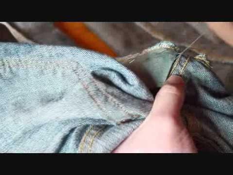 セルフリペアの仕方 あて布 How to Self-Repair in Jeans(Fix a Hole)