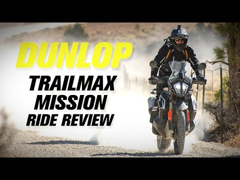 NEW Dunlop Trailmax Mission Adventure Motorcycle Tire Ride Review