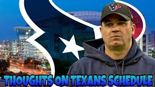Texans 2018 Schedule Thoughts!