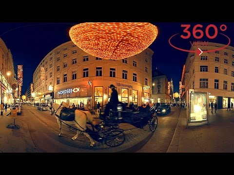 360 VR VIDEO - Christmas in Vienna, Austria (vr 360 degree video about travel & tourism)