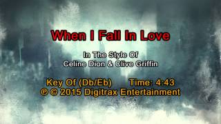 Celine Dion & Clive Griffin - When I Fall In Love (Backing Track)