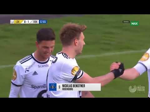Bendtner nutmeg and amazing goal [1-0] Rosenborg - Lillestrøm