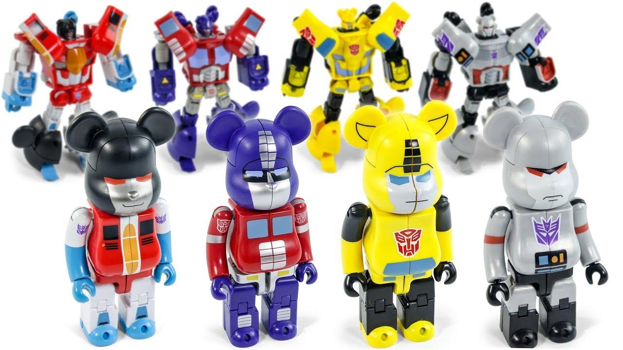 e1c932a7 BearBrick Transformers OptimusPrime BumbleBee StarScream MegaTron  Transformation