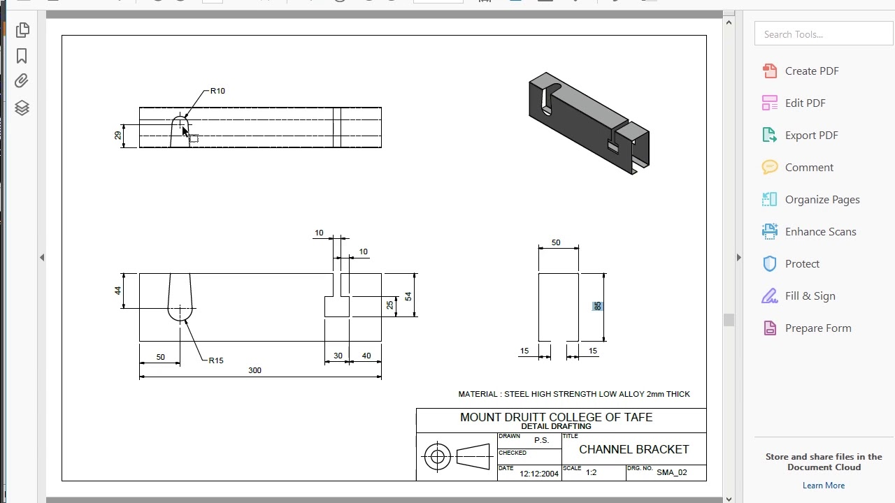 Sheet Metal Cut N Fold Youtube