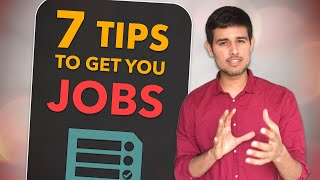 Important Tips to make you more employable and get Jobs by Dhruv Rathee | Fighting Unemployment