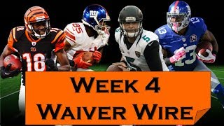 Fantasy Football 2018 Waiver Wire Week-4