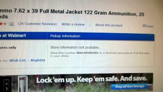 How To Find Ammo At Walmart: Using Walmart.com