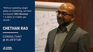 Chethan Rao - Consultant @ Bluestar, shares his experience with START NOW Startup Incubator Program