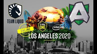 🔴 [Dota 2 live] Liquid vs Alliance - ESL One Los Angeles Online 2020 Dota 2
