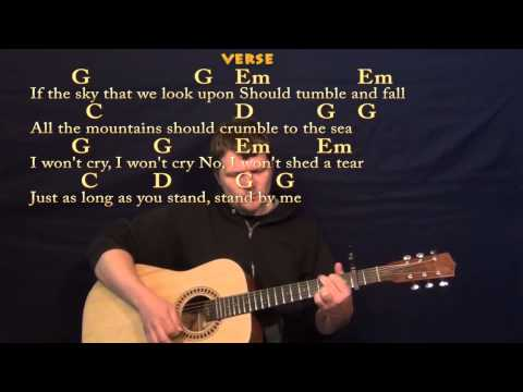 Stand By Me (Ben E King) Easy Guitar Strum Cover Lesson with Lyrics/Chords