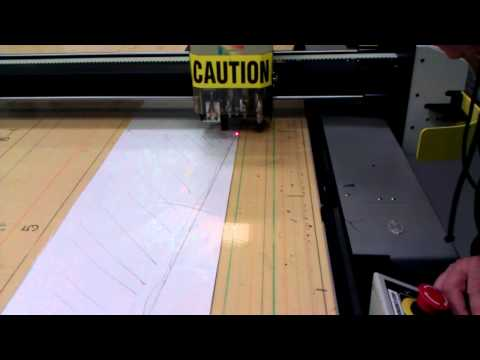 Programming a hand-created pattern to be cut out in carbon fiber
