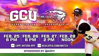 GCU Baseball vs Oregon State  |  Feb. 26, 2021