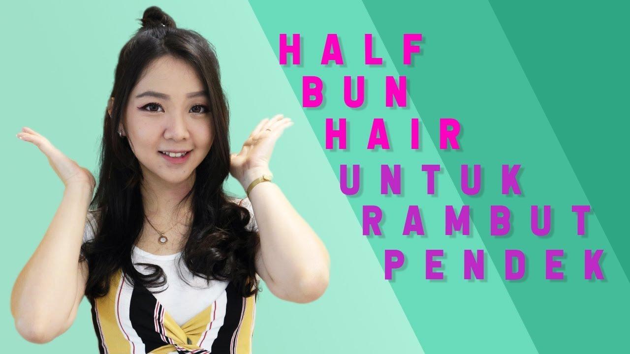 Cara Cepol Rambut Pendek Ala Korea Youtube