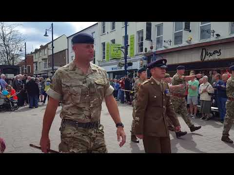 Armed Forces Day in Coleraine 2018. Co Londonderry Northern Ireland