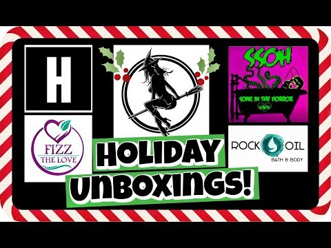 HOLIDAY BATH BOMB UNBOXINGS!! Sweet Shop Of Horrors, Witch Baby, Fizz The Love *2017 Christmas Haul