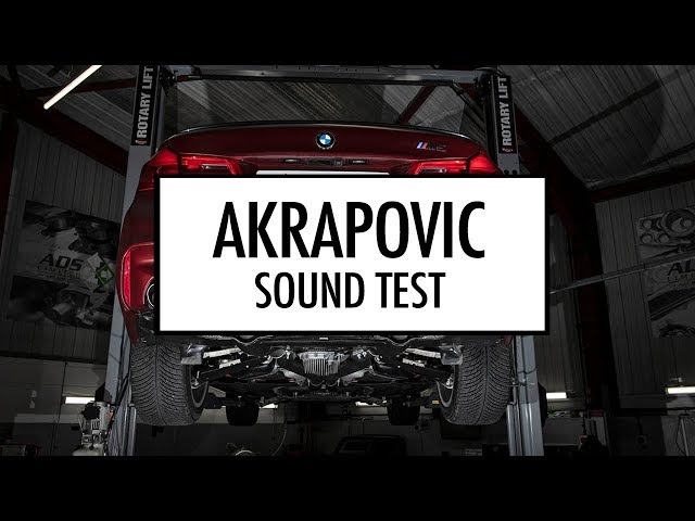 F90 BMW M5 Stock exhaust vs Akrapovic sound test