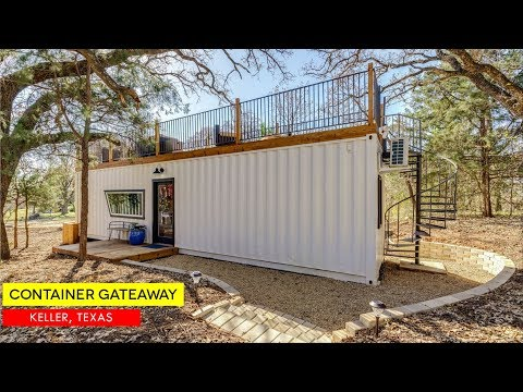 Tiny Shipping Container House Getaway in Keller, Texas