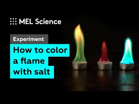 Experiment: 5 Colored Flames (How To Color Fire With Salts)