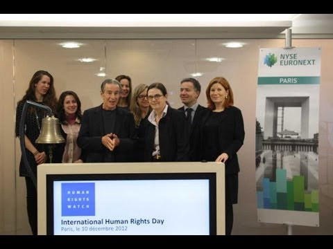 Human Rights Watch va ouvrir la Bourse NYSE Euronext Paris