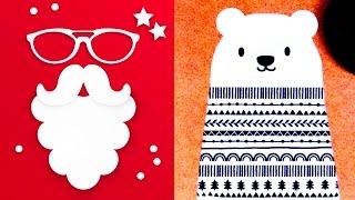 видео Новогодние открытки своими руками