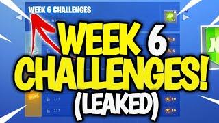 Fortnite WEEK 6 Challenges LEAKED! Fortnite SEASON 7 WEEK 6 Challenges! (From 1 -7)