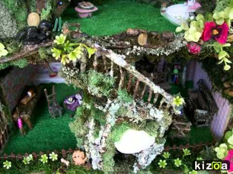 Kizoa Video Maker: Handmade Ooak Woodland Fairy Garden House - YouTube