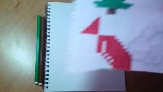Как нарисовать ёлку по клеточкам!Видео-урок #2