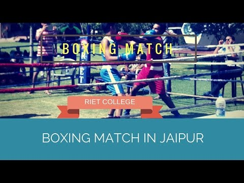 Boxing match in jaipur RIET COLLEGE sport#22