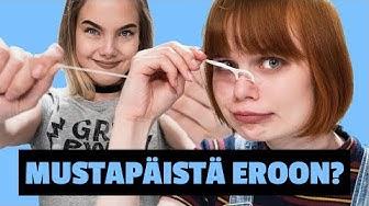 MUSTAPÄISTÄ EROON HAMMASLANGALLA? | Emma ja Milla testaa