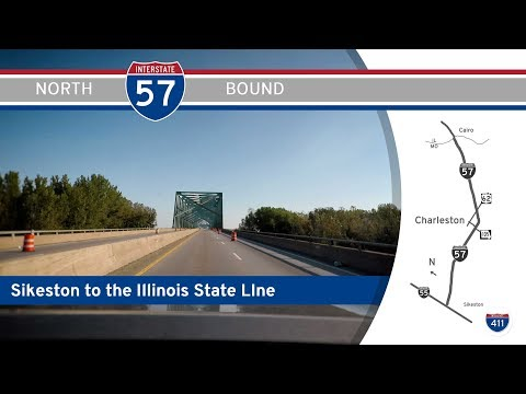 Interstate 57 - Sikeston Missouri to Illinois State Line |  Drive America's Highways 🚙