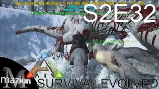ARK: Survival Evolved - Taming a 120 Dire Wolf and a Rex! S2E32 Gameplay