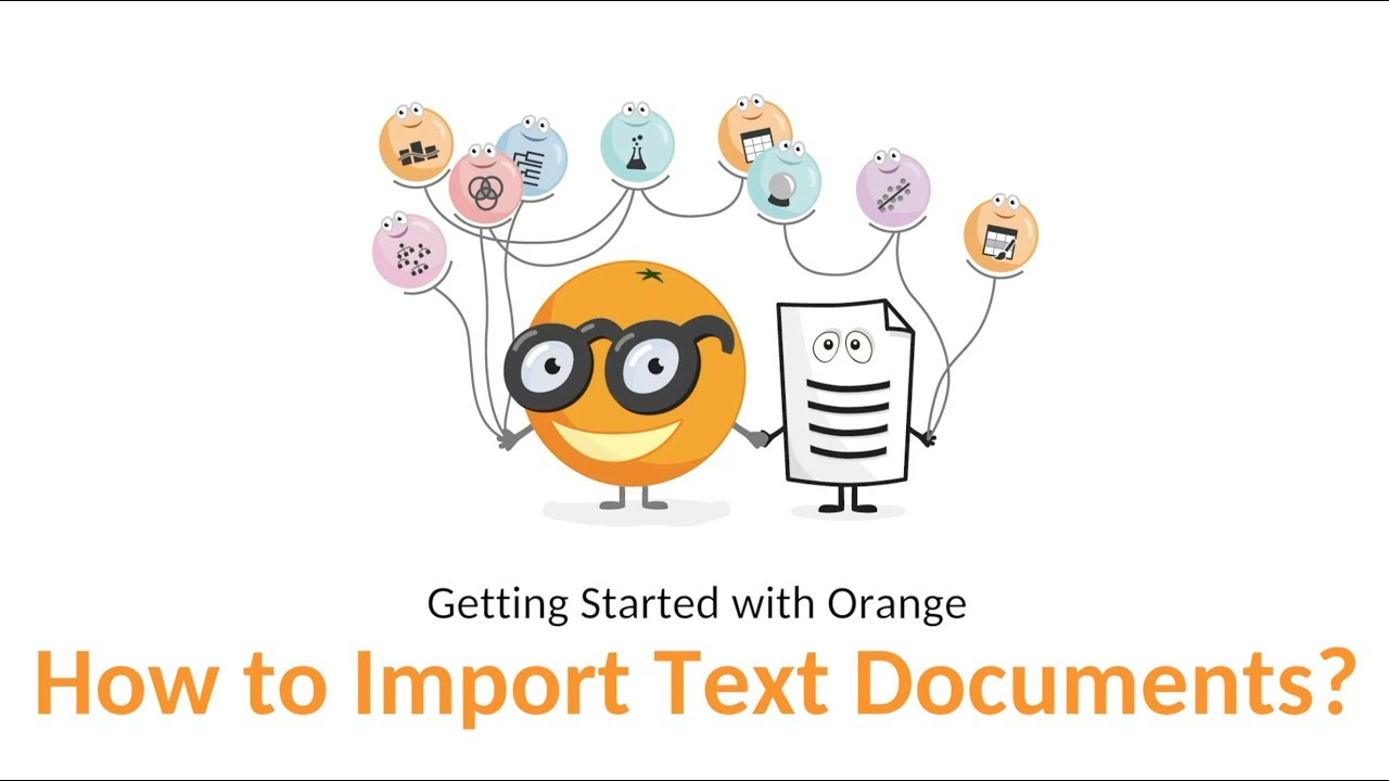 Getting Started with Orange 19: How to Import Text Documents