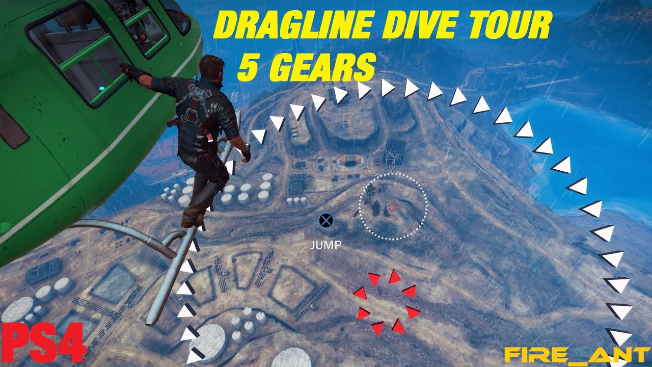 Just cause 3 dragline dive tour time saver 5 gears youtube - Dive time tours ...