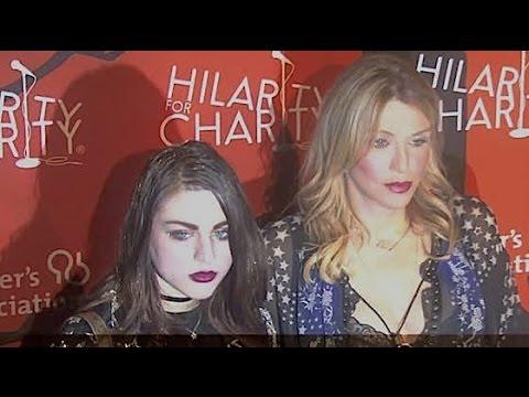 COURTNEY LOVE and daughter FRANCES BEAN COBAIN attend Serh Rogan charity Halloween show