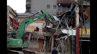 Nema demolishes Java House outlet in Kileleshwa, Nairobi