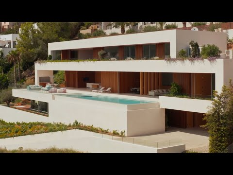 A Terraced Villa With Pool In The Mediterranean